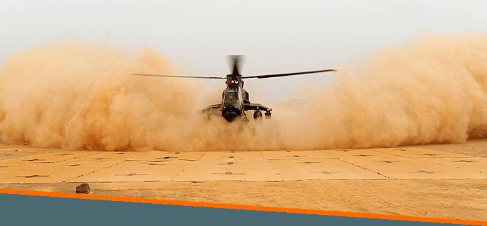 aire de poser hélicoptère souple