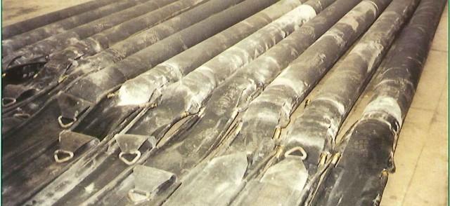 vérins pneumatiques gonflables pour soulever dalles de piste d'aéroport