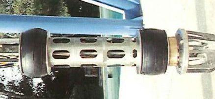 Vérins gonflables toriques pour immobiliser outil de découpe de plateforme