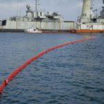 Barrage anti pollution haute mer