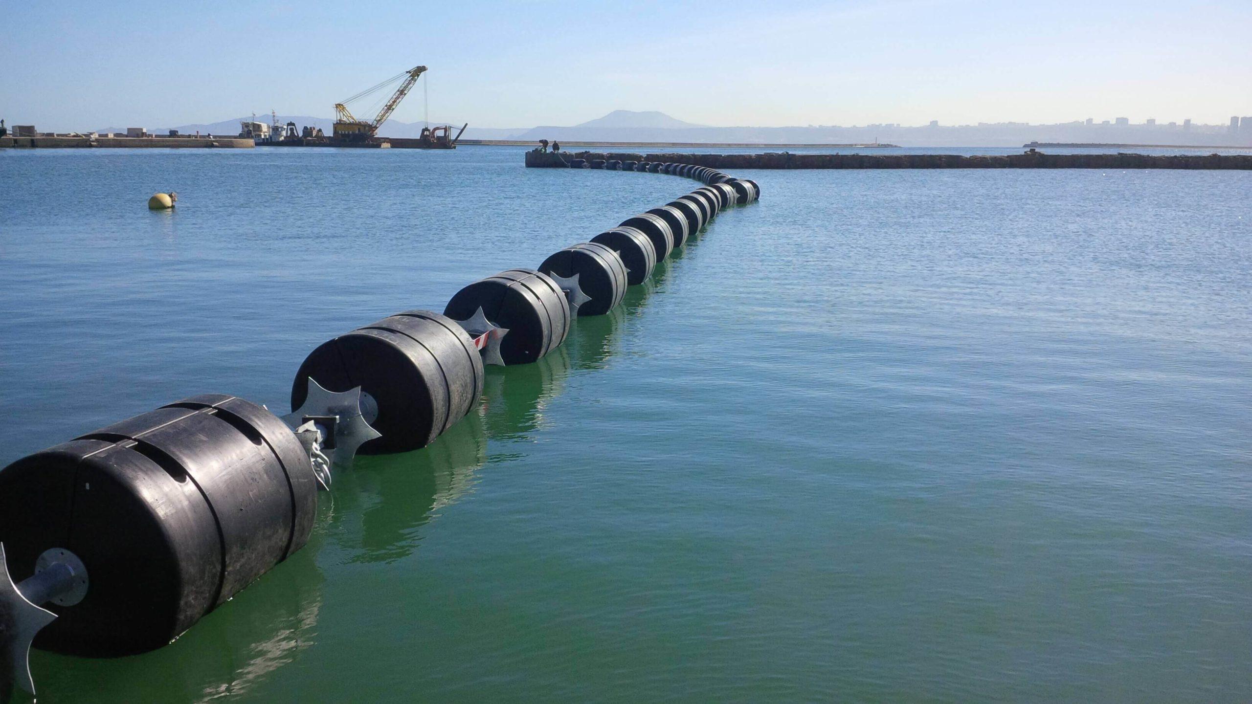 Barrière flottante anti intrusion