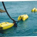 Flotteurs gonflables travaux maritimes