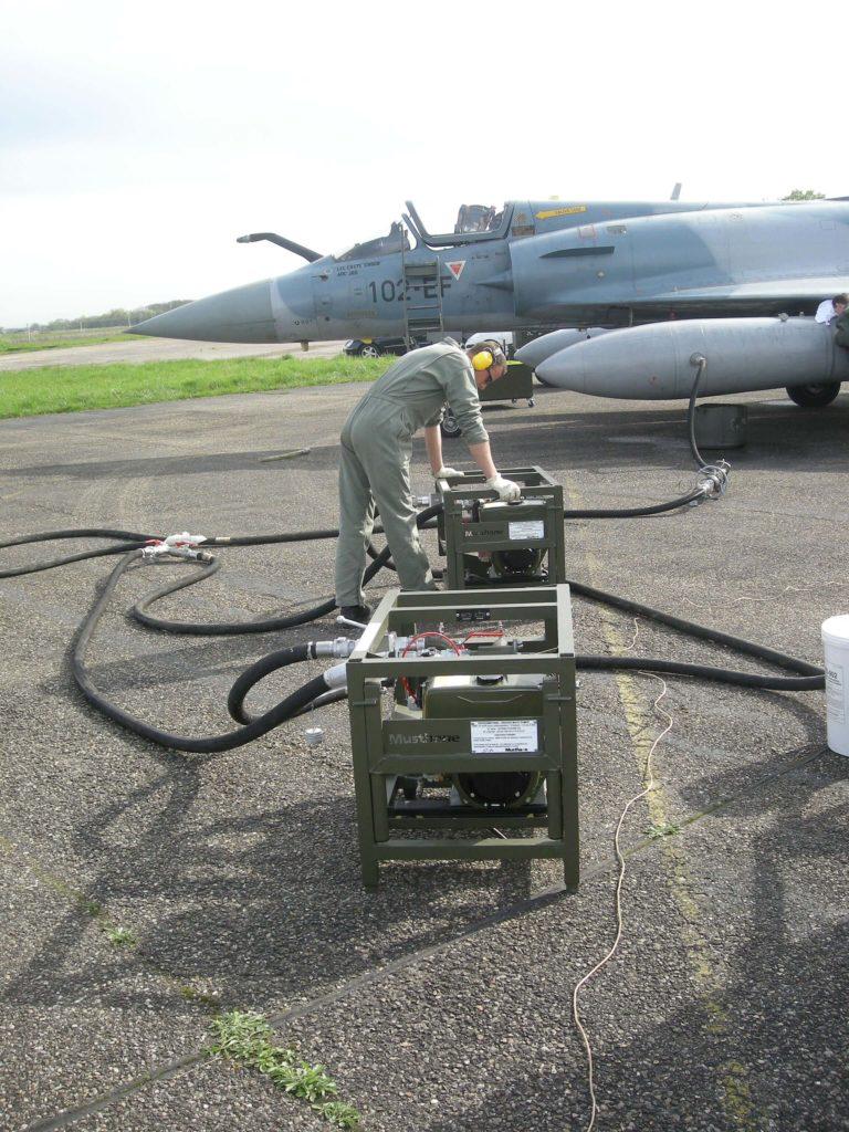 Groupe distribution carburant avion