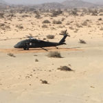 Hélipad blackhawk hélicoptère