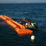 Réservoir flottant souple stockage carburant mer