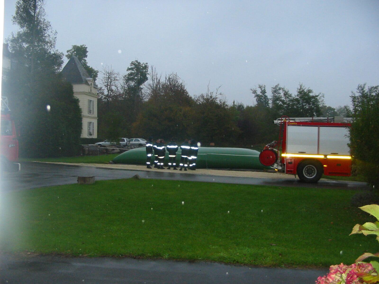 Réservoir incendie souple