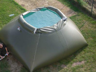 Réservoir souple ouvert stockage eau