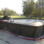 Réservoir stockage carburant bac rétention